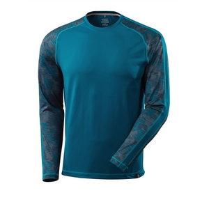T-Shirt Advanced, T-shirt long-sleeved, dark petroleum L, Mascot