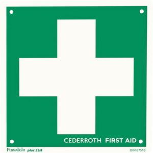 Ženklas, Pirmosios pagalbos kryžius, dvipusis, Cederroth