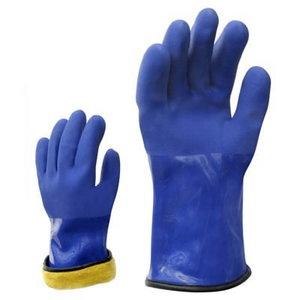 Kindad, üleni PVC, soe akrüülvooder, sinine, 30cm, talv