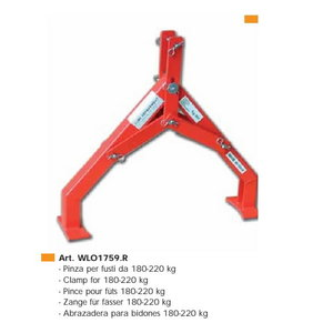 Clamp for drum - 180-200 kg, Intertech