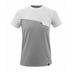 T-krekls Advanced, ar krūšu kabatu, pelēks/balts, Mascot