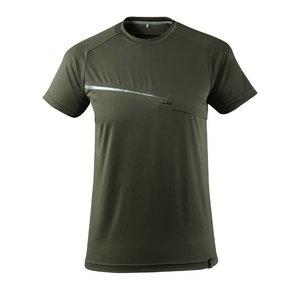 T-krekls Advanced, ar krūšu kabatu, sūnu zaļš 4XL, Mascot