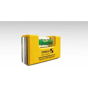 Līmeņrādis Pocket Professional ar jostas klips, Stabila