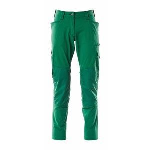 Trousers kneepad pockets ACCELERATE full strets, women,green, Mascot