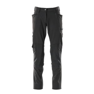 Trousers kneepad pockets ACCELERATE full strets, women, blac, Mascot