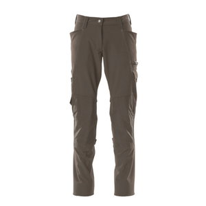 Trousers kneepad pockets ACCELERATE full strets, women, grey, Mascot