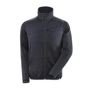 Fleece Jumper with zipper Accelerate, black 4XL, Mascot