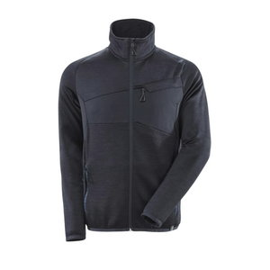 Fleece Jumper with zipper Accelerate, dark blue S, Mascot