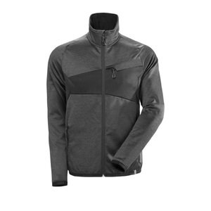 Fleece Jumper with zipper Accelerate, dark Anthracite/black XL, Mascot