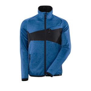 Fleece Jumper with zipper Accelerate, azur/dark navy 4XL