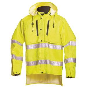 Vihmajakk 18121 kõrgnähtav CL3, kollane, Dimex