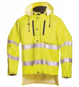 Kõrgnähtav vihmajope  18121 kollane, L, Dimex