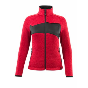 Knitted jumper with zipper ACCELERATE, women, red, Mascot