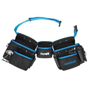 Three pouch belt set WT 1056 8 80-120mm, Gedore