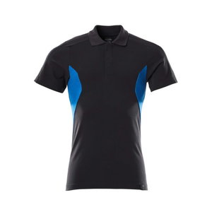 Polo Shirt Accelerate, dark navy/azure, Mascot