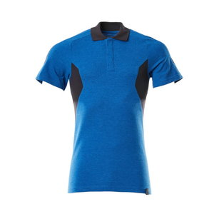 Polo Shirt Accelerate, azur/dark navy M
