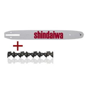 Sliede 45 cm un 2 ķēdes .325 1,5 72z (komplekts), Shindaiwa