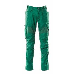 Tööpüksid ACCELERATE strets, kaitsmetaskud, roheline 82C52, Mascot