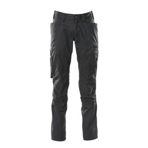 Trousers kneepad pockets ACCELERATE strets,black 82C54, Mascot