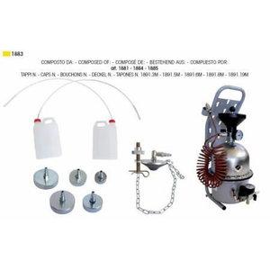 Bremžu atgaisošanas iekārta ar 5 adapteriem 1883, Intertech