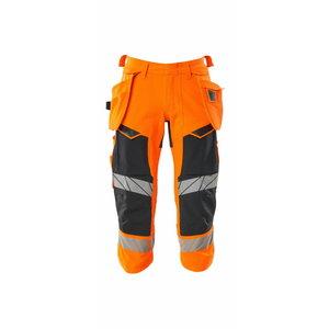 Tööpüksid 3/4 Accelerate Safe strets, kõrgnähtav CL1, oranz, MASCOT
