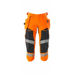 Pants 3/4 Accelerate Safe stretch, hi-viz CL1, orange, Mascot