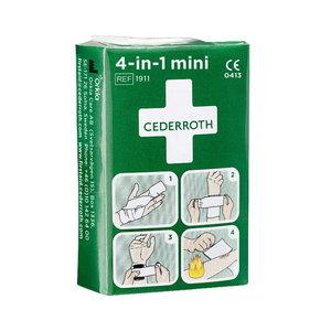Cederroth 4-in-1 neliels pārsējs brūcēm 6cm x 3m