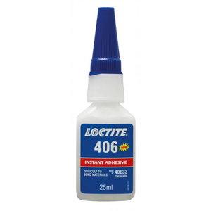 Momentiniai klijai (plastikas, guma) LOCTITE 406 50g, Loctite
