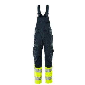 Hi.vis. bib-trousers Accelerate Safe stretch zones CL1, yell, Mascot