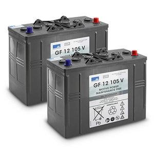 Akumuliatorių kompl. Gel 2x 12V/105Ah, 24V, Kärcher