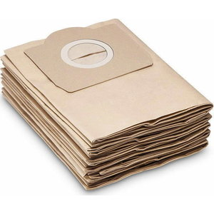 Paper filtering bag 5pc. WD 3 brown box, Kärcher