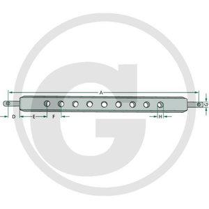 Linkage drawbar CAT-1, Granit