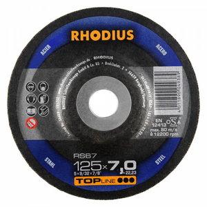 Slīpdisks tēraudam RS67 125x7, RHODIUS Schleifwerkzeuge