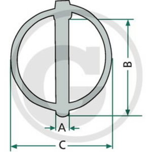 Clip pin kit 7,5mm, Granit