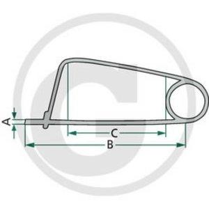 Securing clip, Granit