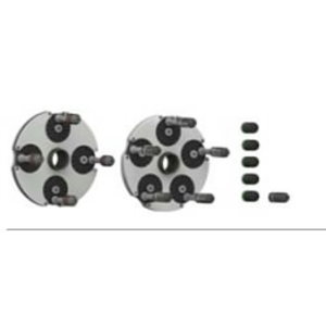 Set of QuickPlates (4 and 5-holes-plate) incl. wall board, Haweka