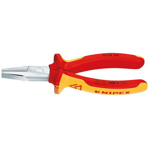 Flat nose pliers 160mm VDE, Knipex
