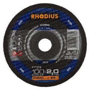 Pjovimo diskas metalui FT33 125x2, Rhodius