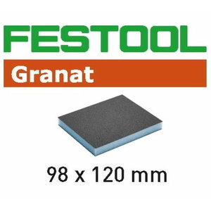 Lihvkäsn GRANAT 98x120x13mm P120 - 6tk, Festool