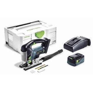 Akumulatora figūrzāģis PSBC 420 EB - PLUS, 18V / 5,2Ah, Festool