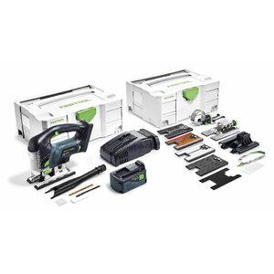 Akumulatora figūrzāģis PSBC 420 EB-Set Li, 18V / 5,2Ah, Festool