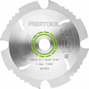 Deimantinis pjovimo diskas 160x2,2x20 mm, -5°., Festool