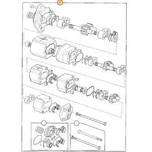Pump main hydraulic triple, JCB