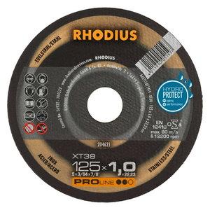 Pjovimo diskas nerūdijančiam plienui XT38 125x1, Rhodius