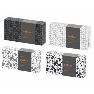 Vienkartinės nosinaitės dėžutėje Wepa Prestige, 40 vnt., Satino