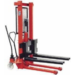 Manual hydraulic lifting trolley 1T with adjustable forks, OMCN