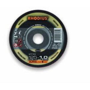Griezējdisks XT70 125x1 INOX, RHODIUS Schleifwerkzeuge