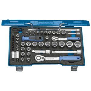 Socket 3/8 + 1/4 set 52pcs D30 TX20 U-20, Gedore