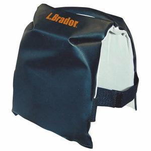 Kneepad, PVC/leather, black 676LP