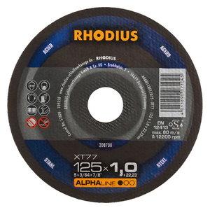 Pjovimo diskas metalui XT77 125x1,5, Rhodius